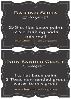 Homemade Chalk Paint Recipes- Baking Soda or Non-Sanded Grout
