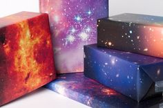 Wrap it in twinkling stars! Galaxy Wrapping Paper by NormansPrintery on Etsy