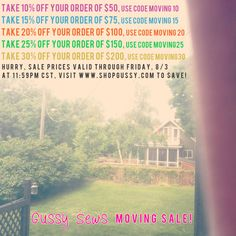 {weekly Gussy shop update — buy more/save more HUGE sale!}    PS. we're moving to California in August!!!!!