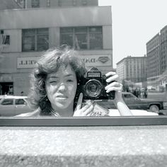 Self Portrait Reflecting Outside Unemployment Office - Meryl Meisler