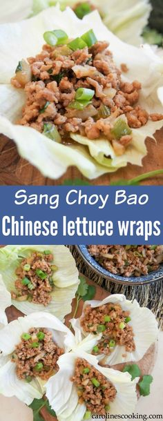 Whether you're looking for food to celebrate Chinese New Year, or just an easy low carb appetizer, these Chinese lettuce wraps are a delicious choice. (Plus the filling is great for meal prep!)