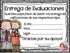 Recadito                                                       … School Items, I School, Classroom Activities, Classroom Organization, Teacher Portfolio, Teacher Forms, Elementary Schools, Teaching Resources, Spanish