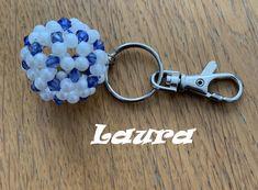 Creacion de Laura para el reto de Enero propuesto en el Foro Personalized Items, January, Beading, Key Fobs, The Creation, Accessories, Flowers
