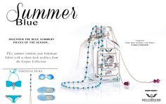 Summer Blue, Turquoise pieces