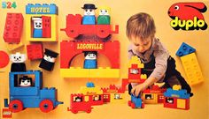 524-1 DUPLO town.  A Duplo set released in 1977.