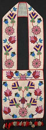 I LOVE antique bandoliers....here's a stunning example.  Ojibway, circa 1860.