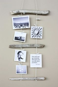 #diy driftwood photo display morning creativity