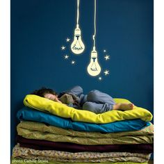 Light Bulb glow in the dark Wall Stickers