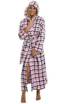Del Rossa Women's Fleece Full Length Hooded Bathrobe Robe, Small Medium Pink and Blue Plaid (A0125P04MD) Alexander Del Rossa http://www.amazon.com/dp/B00CHQ492A/ref=cm_sw_r_pi_dp_fTToub1DZHNJG