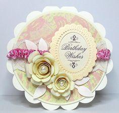 rolled flower 1 birthday card