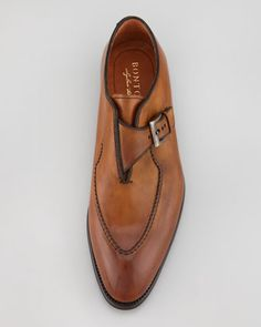 Bontoni Brillantin Original Single Monk Strap Loafer - Bergdorf Goodman
