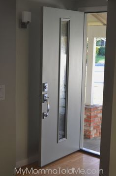 Attirant New Modern Front Door Installed! Mid Century Modern Front Door With Glass  Inset, Chrome Door Handle