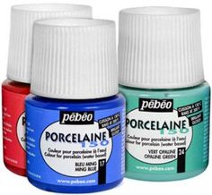 Porcelaine 150 - non-toxic paint for porcelain.  Etruscan Red vs. Scartlet Red?  Gold, Fuchsia, Saffron Orange.  For dotted teapot project