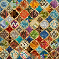 Buy Moroccan Style Foiled Canvas | Canvas Pictures | The Range £14.99