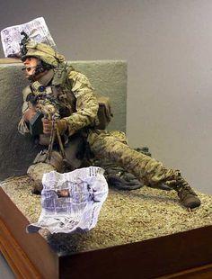 Marines - Afghanistan 1/6 Scale Model