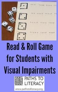 Engaging game for beginning braille readers and their friends!