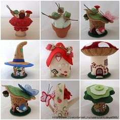 Fairy Houses and pincushions