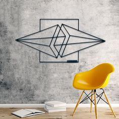 Metal Wall Decor, Metal Wall Art, Wall Art Designs, Wall Design, 3d Printing Diy, Tape Art, Geometric Decor, Deco Design, Design Salon