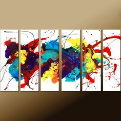 Abstract Art Huge Custom Made 6 pc Modern par wostudios sur Etsy