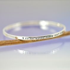 Personalised 3mm Bangle – Silver