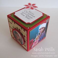 Photo Cube made with one sheet, clear instructions 3d Paper Projects, 3d Paper Crafts, Diy Crafts, Cube Photo, Photo Cubes, Cube Template, Templates, 3d Craft, Diy Photo