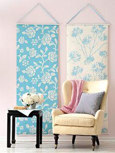 Wall paper wall art