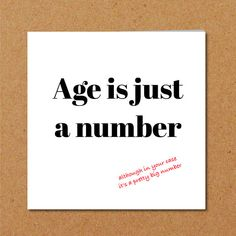 Funny Birthday Card 40th 50th 60th For Mum Dad Birthdaycard