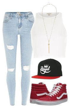 """""""Untitled #1467"""" by musicfasionbooks ❤ liked on Polyvore featuring River Island and Vans"""