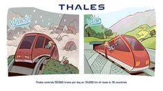 Thales controls trains per day on km of route in 16 countries Trains, Ground Transportation, Country, Anime, Fictional Characters, Countries, Train, Rural Area, Fantasy Characters