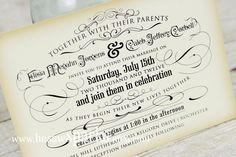 Free Printable Vintage Wedding Invitation Templates