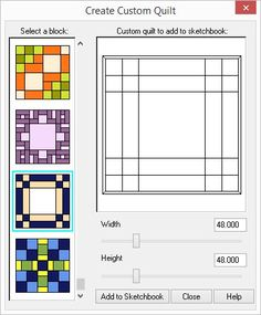 Creating a quilt from a block
