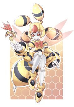 Medabots Meda Queen Bee FC by PencilTales on DeviantArt