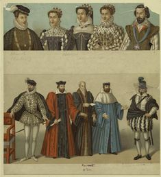 Men and women, France, 16th century.
