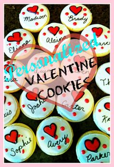 personalized Valentine's cookies...for next year