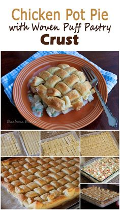 What's the secret to this fun basketweave puff pastry crust?