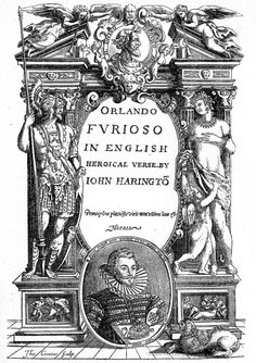 John Harington, frontispiece to his translation of Orlando Furioso, Shakespeare Portrait, First Folio, Book Publishing, Genealogy, Orlando, Author, Orlando Florida, Family Tree Diagram, Writers