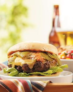 Green Chile Cheeseburger   Cuisine at home eRecipes