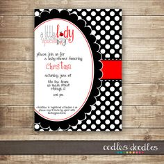 Edit for birthday party ------Ladybug Baby Shower Invitation / Baby Girl Shower by OandD on Etsy, $15.00