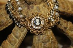 Vintage Assemblage Layered Cameo Chain by SassySistersJewelry, $55.00