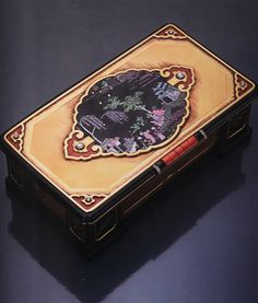 Barbara Hutton's Art Deco Cartier New York Lac Burgauté Enamel Gold Table Box. Curated by Clive Kandel