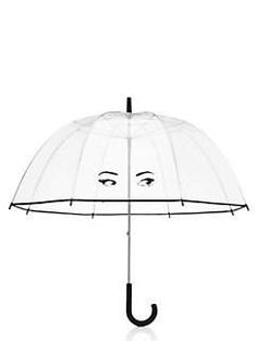 when was the last time you actually wished for rain? you'll be hoping for afternoon showers just so this winking eyes umbrella can get some exposure. we love how it earns its place as a stylish accessory, you'll love how it will keep a rain-soaked bad hair day at bay.