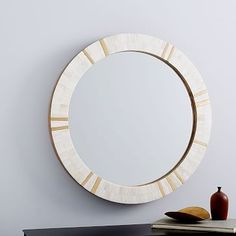 Available in a premium quality, West elm provides the exceptional Brass & Bone Rays Wall Mirror. Buy now Brass & Bone Rays Wall Mirror at the best price with available delivery to Dubai, Abu dhabi, and all areas around UAE Small Wall Mirrors, Mirror Wall Art, Mirror Tiles, Frame Wall Decor, Round Wall Mirror, Floor Mirror, Round Mirrors, Frames On Wall, Antique Tiles