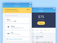 Payment Screen from Personal  Assistant App by Thomas Budiman