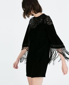 SEQUIN EMBROIDERY VELVET DRESS-Woman-NEW THIS WEEK   ZARA United States