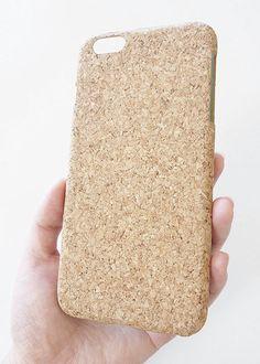 Apple iPhone 6 Plus 5.5 Eco-Friendly Natural Wood Cork Phone Case by Yunikuna