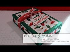 Flip Top Christmas Gift Box - DoLally Crafts - Stampin' Up! Christmas Craft Show, Top Christmas Gifts, Christmas Paper Crafts, All Things Christmas, Diy Gift Box, Gift Boxes, Craft Show Ideas, Top Gifts, Paper Gifts