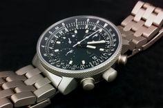 """Ventura """"V-matic Loga"""", titanium case and bracelet"""