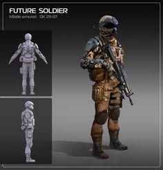 Future soldier, Yurii Nikolaiko on ArtStation at https://www.artstation.com/artwork/future-soldier-c3529908-a964-4e12-b727-fc094e71827f