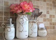 Mason Jar Kitchen Set-Housewarming von CountryHomeandHeart auf Etsy