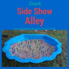Side Show Alley is an essential part of school fete - try these ideas which are cheap and easy to set up.